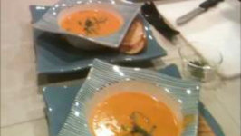 Tomato Bisque and Grilled Cheese Sandwich