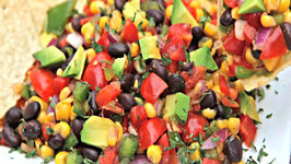 Easy Black Bean Corn Salad - So Addictive