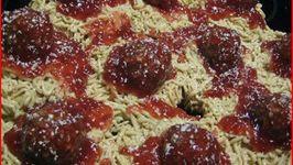 April Fools Spaghetti and Meatballs Cupcakes