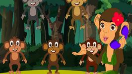 Five Little Monkeys Jumping on the Bed Nursery Rhyme  Five Little Monkeys Song