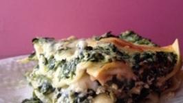 TBT Spinach Mushroom Lasagna