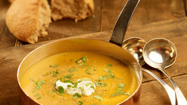 Curried Pumpkin & Persimmon Soup