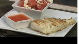 Grilled Halibut with Watermelon Feta Salad