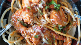 Shrimp Pasta with Roasted Tomatoes and Garlic