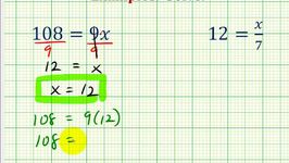 Ex:  Solve One Step Equations By Mult. and Div. Whole Numbers (Variable on Right)