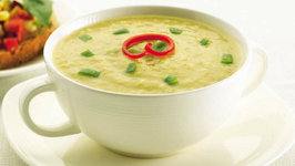 Sweet Corn and Capsicum Soup by Tarla Dalal