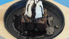 Sizzling Brownie by Tarla Dalal