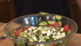 Mediterranean Tomato Cucumber Salad Chef Kirk Leins and Jon Ham in the Kitchen