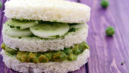 Green Pea and Cucumber Sandwich