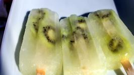 Kiwi Margarita Boozy Popsicle