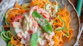 Super Creamy Salmon Pasta - Grain free and Dairy free