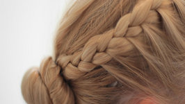 Hairstyle for Working Out - Side Braid Ponytail Tutorial