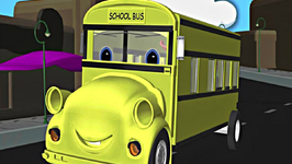 Wheels on the Bus Go Round and Round Rhyme with Lyrics