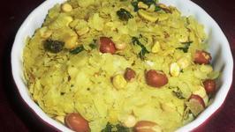 Microwave Poha Chivda (Beaten Rice Namkeen)
