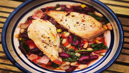 Tuscan Chicken with Beans