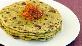 Aloo Palak Roti by Tarla Dalal