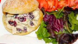 Chicken salad with Cranberries and Almonds on