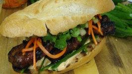 Lemongrass Marinated Pork Sandwich - Banh Mi