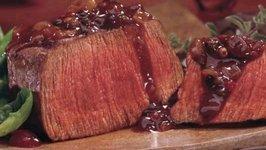 Seared Beef in Walnut Sauce