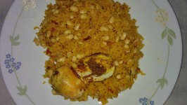 Protein Rich Soy Tomato Rice With Egg Masala