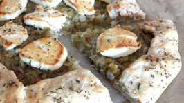 Leek Confit And Goat Cheese Crostata