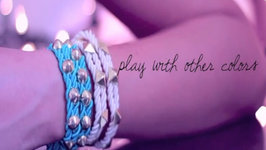 Fashion DIY: Studded Rope Cord Bracelet (Armparty, Armcandy, or Stacking)  Styling