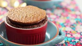 How to Make Classic Chocolate Soufflé w Praline On Top