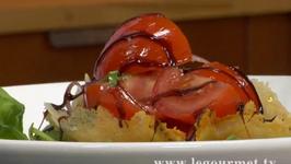 Chardonnay Tomato Basil Salad on Parmigiana Cheese Bowl