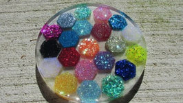 Hexagon Glitter Coaster Craft Tutorial Another Coaster Friday