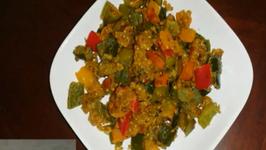 Simla Mirch Masala Sabji - Capsicum or Bell Pepper Stir Fry