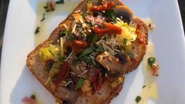 Mediterranean Mushroom on Toast