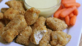 Homemade Chicken Nuggets and Honey Mustard Dipping Sauce