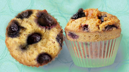 Blueberry and Polenta Muffins