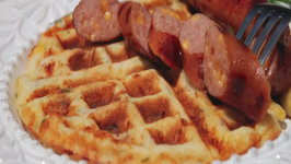 Bacon, Cheese & Chive Waffles