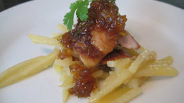 Chicken and Potato with Spiced Onion Jam