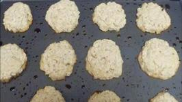 Oatmeal Drop Cookies with Coconut Flakes