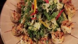 Asian Grilled Shrimp Salad With Sesame Ginger Vinaigrette