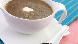Black Bean Soup by Tarla Dalal