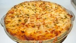 Turkey Sausage Spaghetti Pie