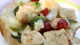 Chicken Salad with Dried Cranberries, Almonds & Apples