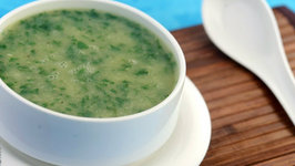 Moong Dal and Spinach Soup (Zero Oil) by Tarla Dalal