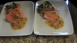 Salmon with White Wine Butter Sauce