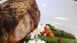 Mediterranean Grilled Pork Chops and Green Beans