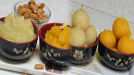 Badam Halwa or Sheera - Almond Pudding by Bhavna