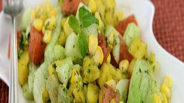 Fruity Corn Salad (Vitamin A and C) by Tarla Dalal