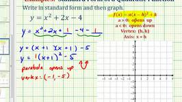 Ex1: Write a Quadratic Function in Standard Form to Graph Video by ...