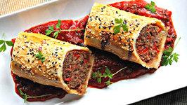 Italian Sausage Rolls with Tomato-Basil Sauce