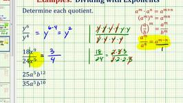 Ex:  Simplify Exponential Expressions - Quotient Rule