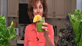 Orange Basil Mint Green Smoothie