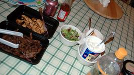 Beef And Salsa Fajitas